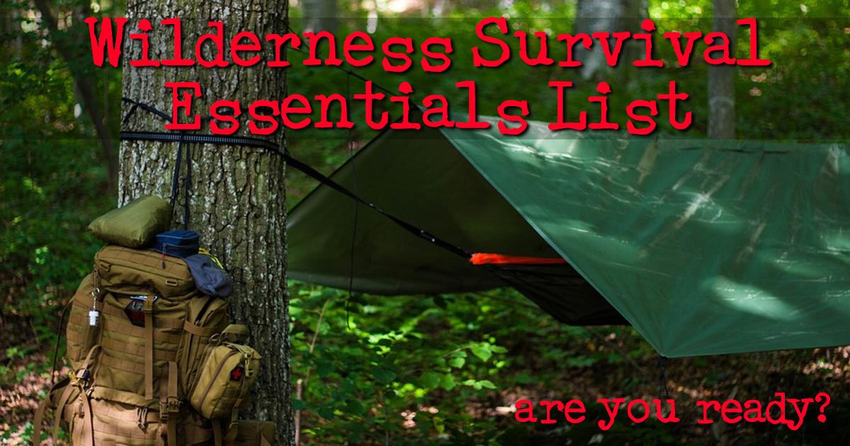 Wilderness Survival Essentials List Every Survivalist Has to Have