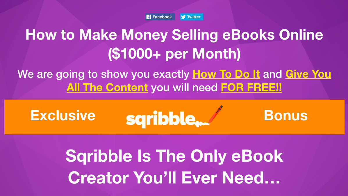How to Make Money Selling eBooks Online $1000+ per Month We are going to show you exactly How To Do It and Give You All The Content you will need FOR FREE
