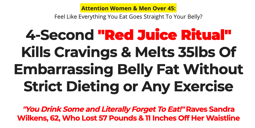 Quickly flatten your stomach without exercise or skipping meals Get an amazing surge of sustainable energy that lasts all day long Thin out your thighs, shrink your waistline and slim your hips Experience improved mental focus & concentration Melt away even the most stubborn hormonal belly fat after 45